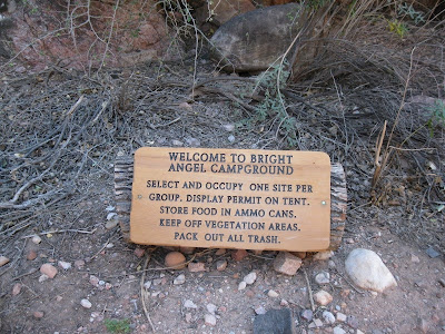 Welcome to Bright Angel Campground Grand Canyon National Park Arizona