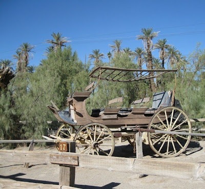 Old stagecoach Furnace Creek Death Valley National Park California