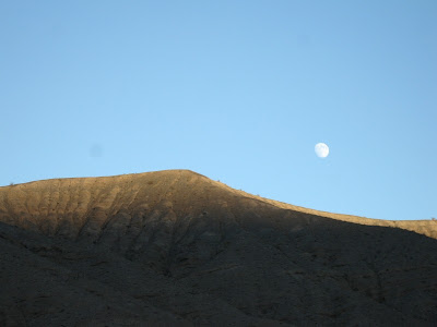 Waxing moon Death Valley National Park California