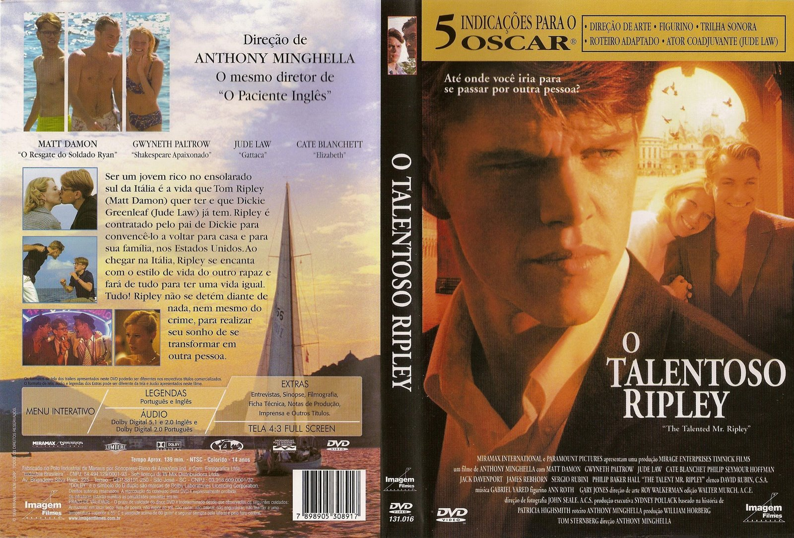 Capas Filmes Suspense O Talentoso Ripley