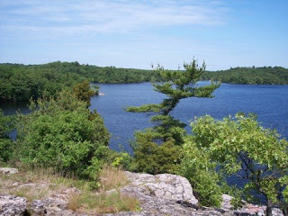 photo of Breed's Pond from Lantern Rock, Lynn Woods, Lynn