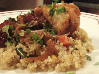 Oven Poached Sea Bass with Quinoa Pilaf