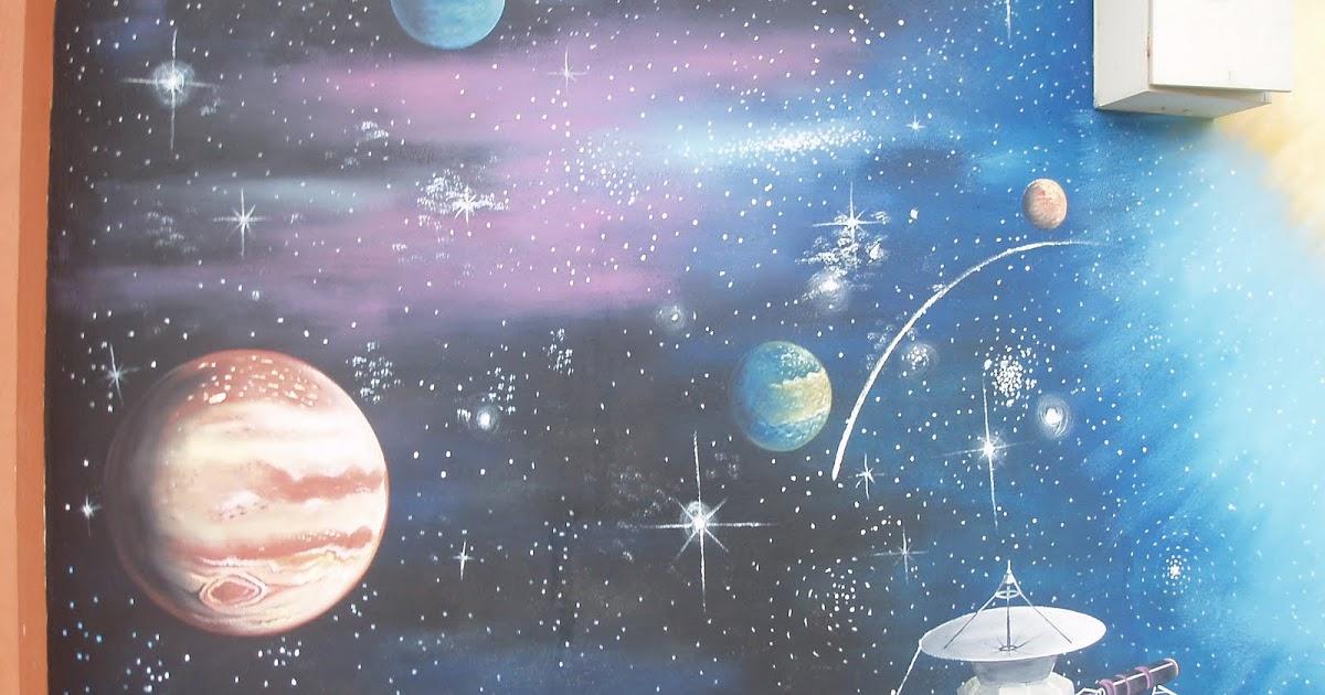 Lukisan Mural Tentang Planet Lusr Angkasa : Manusia melihat planet mars dari dekat dengan gambar ...