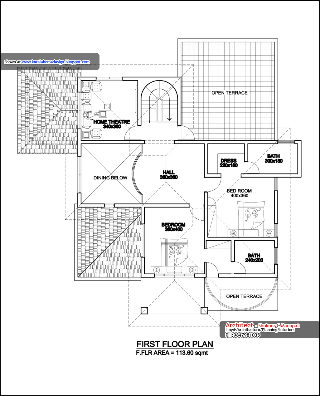 Elevation Plan Ymca : Kerala home plan elevation and floor sq ft a