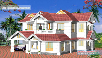 Kerala Home plan and elevation - 2656 Sq. Ft