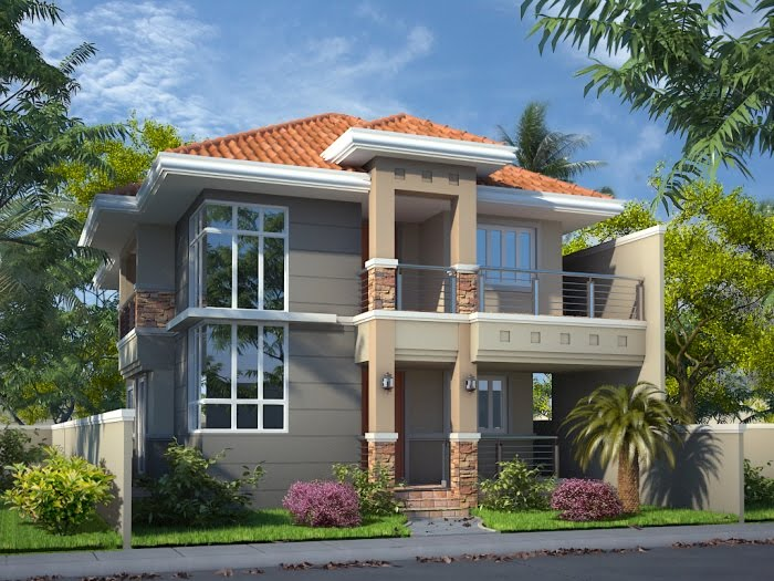 2 Floor Elevation Of House : Awesome home elevation designs in d kerala