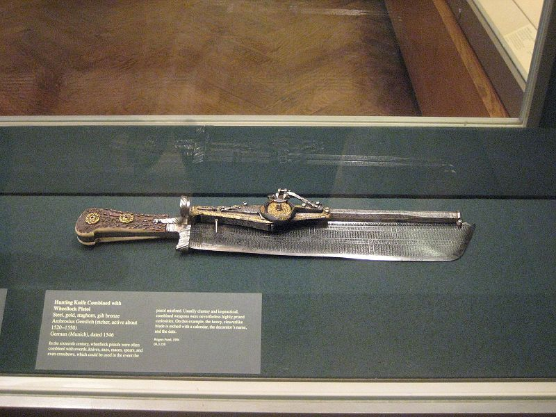 Firearms History, Technology & Development: Combined Firearms: Swords