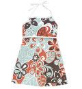 Charlie Rocket hibiscus print halter dress for girls, cargo shorts for boys
