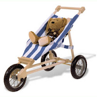 Wooden Doll Jogger from TheWoodenWagon.com