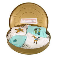 Showtime Film Can Layette Gift Set at PolkaDotWhale.com