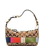 Multi-Stripe Pouch bag by Coach