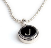 Typewriter Key pendant from UncommonGoods :  necklace monogrammed typewriter jewelry