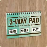 Three Way Notepad at KnockKnock.biz