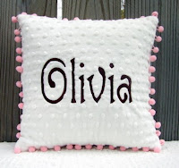 Personalized nursery pillow at Etsy.com
