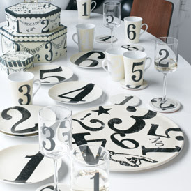 Party Raffle Tableware by Rosanna