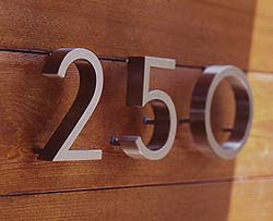 Neutra House Numbers by Design Within Reach