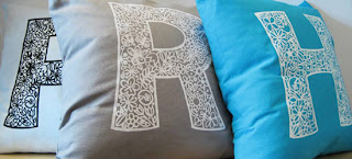 Rare Device Initial Pillows