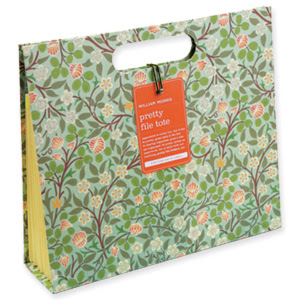 William Morris File Tote by Galison.com :  folder file tote paper file