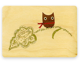 Wood eco-friendly postcards from Night Owl Paper Goods