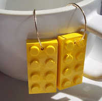 Lego-style earrings at Etsy.com