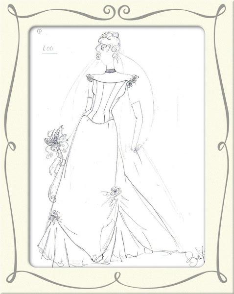 Figurino sposa Cosette