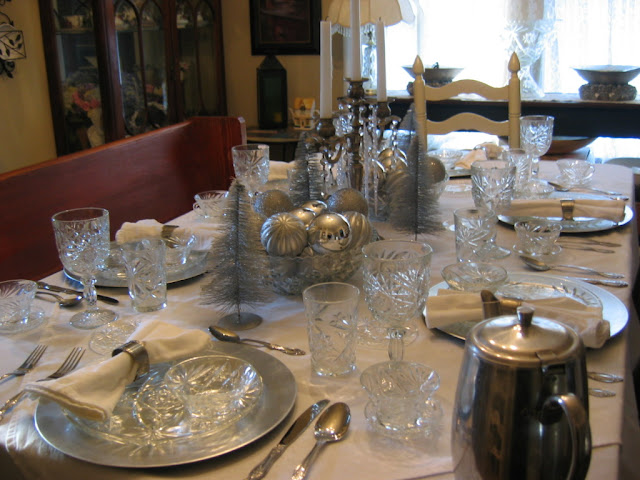 A WINTER TABLE SETTING   Lady Katherine Tea Parlor