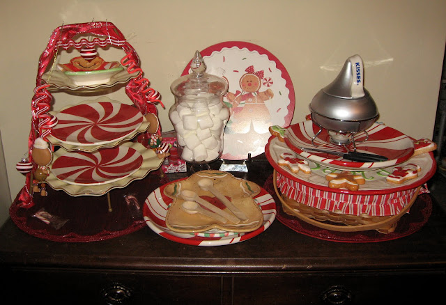 GINGERBREAD and PEPPERMINT DISHES TABLESCAPE  Lady Katherine Tea Parlor