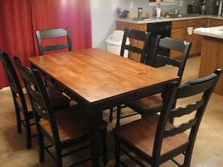 Operation refinishing kitchen table infarrantly creative - Refinished kitchen table ...