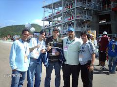 "Staff de ""Deportiva Stereo 98.1 Fm""."