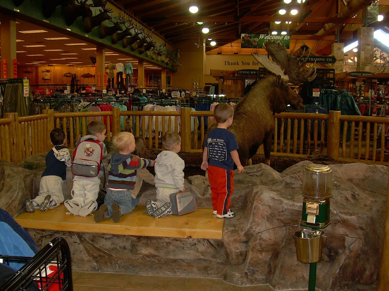 Boys at Cabela's