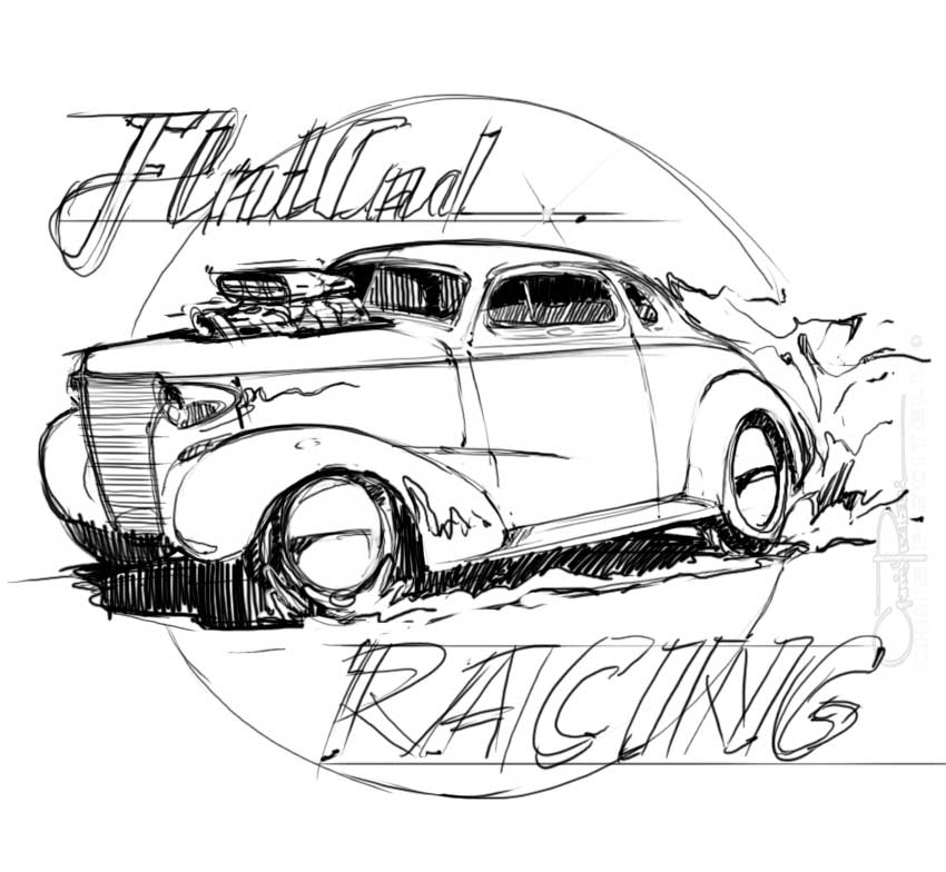 design165 october 2010 Craigslist 1955 Pontiac Station Wagon anyway here are a few quick sketches i came up with to run past him for a logo