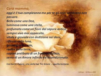Frasi Di Compleanno Mamma Morta
