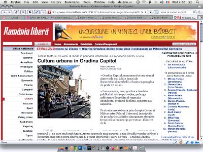 Romania Libera despre Teatrul de vara Capitol