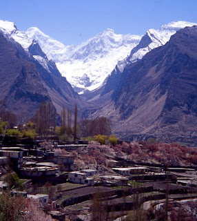 Growing glacier on Hindu Kush