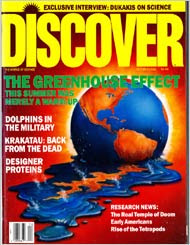 Discover magazine cover story on climate,October 1998