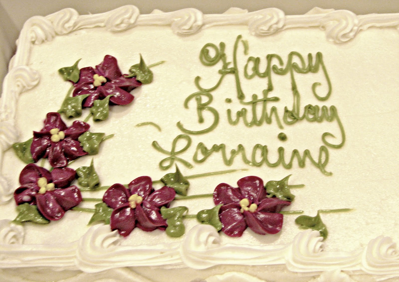 Happy Birthday Aunt Lorraine Cake