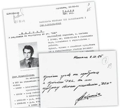 Wołoszański - zobowiązanie do współpracy