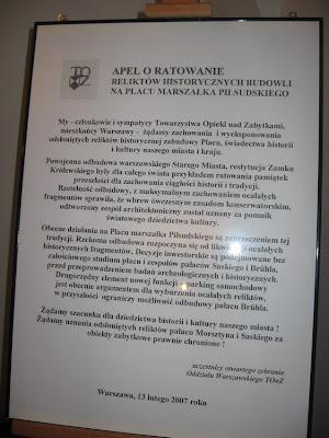 Apel TONZ o zachowanie piwnic pod Pałacem Saskim