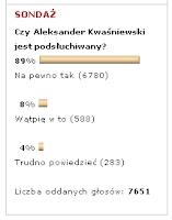 Kwaśniewski przestępca? - ankieta