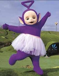 Tinky Winky w spódniczce
