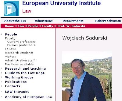 Wojciech Sadurski, Europejski Uniwersytet Europejski