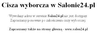 Cisza wyborcza w Salonie24