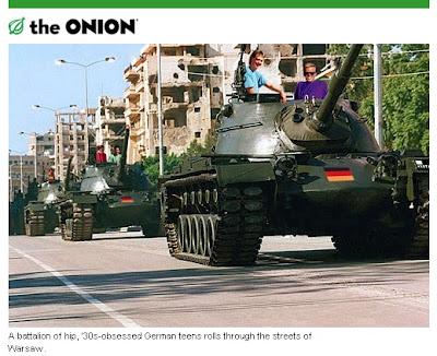 The Onion - atak młodych Niemców na Warszawę