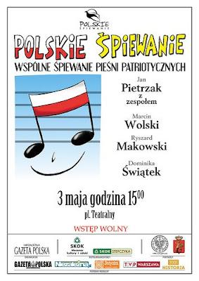 Polskie śpiewanie - plakat