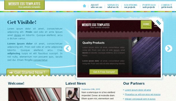 Free Business Blue CSS Jquery Template