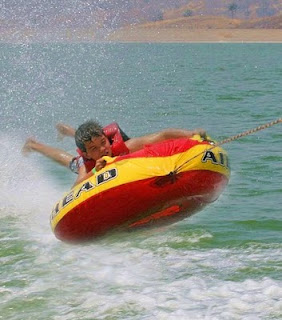 Tubing at Aloha Beach Camp's Kahuna Camp program at Castaic Lake...what a blast!