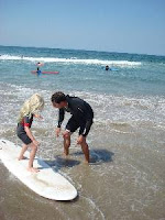 Aloha Beach Camp offers surf lessons in Los Angeles within its day camp program or on a group or private lesson basis apart from the camp day
