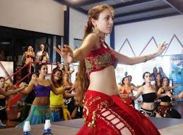 """Ansuya en el taller de """"Baile en el Piso"""""""