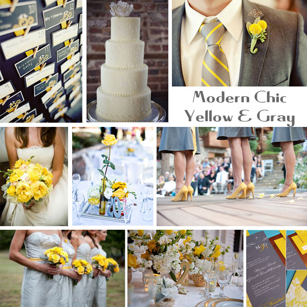 wedding ideas yellow and gray hearts amp flowers decorating for your wedding day chic 28367