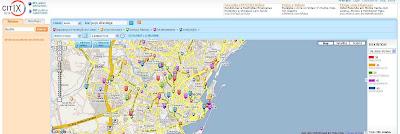 Imagem do site Citrix que oferece informações sobre áreas violentas nas cidades